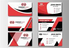 Name Card Design Template Free Download Business Red Name Card Vector Download Free Vector Art