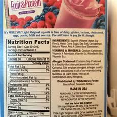 Soy Milk Light Nutritional Information Silk Soymilk Light Original Calories Nutrition