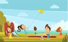 Children Playing Background Playing Children Background Download Free Vectors