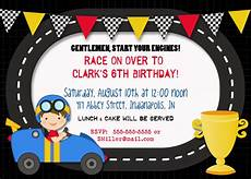 Free Printable Race Car Birthday Invitations Bear River Photo Greetings