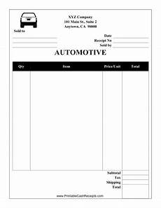 Automotive Receipt This Automotive Receipt Is Designed To Be Used By A Garage