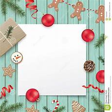 Blank Christmas Christmas Design Template Stock Vector Illustration Of