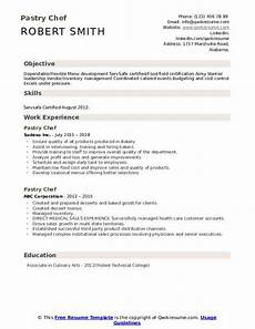 Pastry Chef Resume Example Pastry Chef Resume Samples Qwikresume
