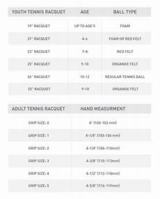 Tennis Racket Grip Size Chart Buying A Tennis Racquet Pro Tips By S Sporting Goods