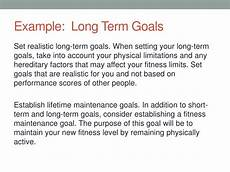Long Term Goals Examples Ppt Personal Trainer Cheat Sheet Powerpoint Presentation