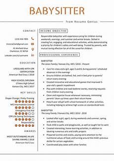 Babysitter Responsibilities Resume Babysitter Resume Example Amp Writing Guide Resume Genius