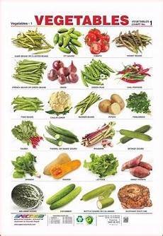 Vegetable Picture Chart Vegetables Amp Flowers Educational Wall Chart Buy
