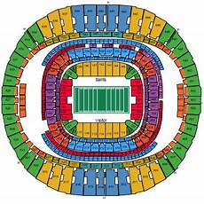 Saints Virtual Seating Chart New Orleans Saints