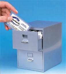 mini desktop filing cabinet for all those biz cards