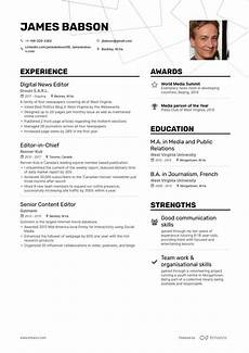 Journalism Cv Example Editor Resume Samples A Step By Step Guide For 2020