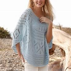knit summer stunning summer poncho free knitting pattern