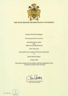 First Class Honors Ba Hons English Studies Certificate Andyteacher S Blog