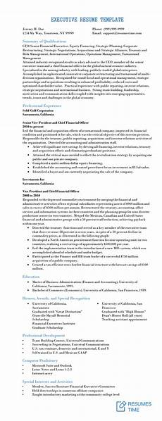 Resume H Executive Resume Samples And Examples To Help You Get A
