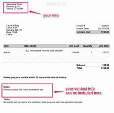 Writing Invoice Writing Freelancer Invoice Invoiceberry Blog