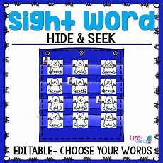 Sight Words Pocket Chart Sight Word Hide Amp Seek Pocket Chart Cards Fish Theme