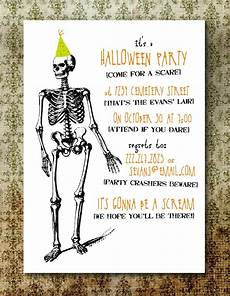 Costume Party Invitations Free Printable Printable Spooky Halloween Party Invitation