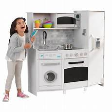 Kidkraft Large Play Kitchen With Lights And Sounds White Playset Kidkraft Large Play Kitchen With Lights Amp Sounds White