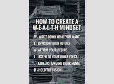 WEALTH mindset Practice these law of attraction habits and