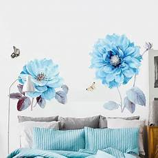 simple flower decal blue floral decals