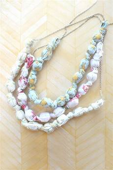 fabric crafts jewelry eat sleep make craft fabric covered bead necklaces