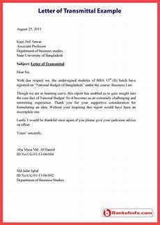 Transmittal Letter Templates Letter Of Transmittal Example Template Sample Format