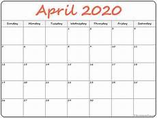 print calendar april 2020 april 2020 calendar free printable monthly calendars
