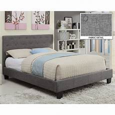 worldwide homefurnishings upholstered platform bed