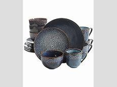 Laurie Gates Matisse Round Blue 16 Pc. Dinnerware Set