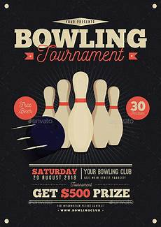 Bowling Flyer Vintage Bowling Tournament Flyer By Guuver Graphicriver