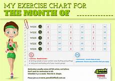Free Exercise Chart Free Print Outs To Help You Achieve Your Goals