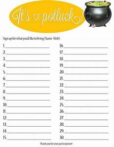 Pot Luck Sign Up Potluck Sign Up Sheet Collection Sign Up Sheets