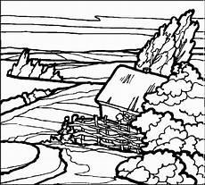 haus mit zaun ausmalbild malvorlage landschaften