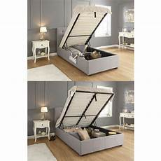 2018 fabric grey ottoman storage side lift bed in 4ft6