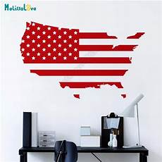 American Flag Office Usa Map American Flag Office Decal Home Living Room Decor