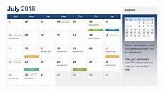 Calendar Template Powerpoint Powerpoint Calendar Template Year 2018 Slidemodel