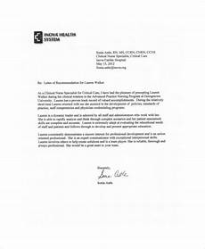 Sample Letter Of Recommendation For New Graduate Nurse Free 8 Sample Nursing Recommendation Letter Templates In Pdf
