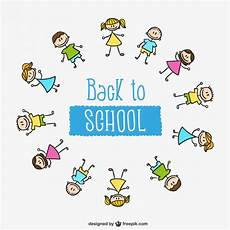 Back To School Kids Circle Vector Free Download