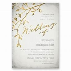 E Invitation Design Leaves Of Gold Invitation Invitations By Dawn