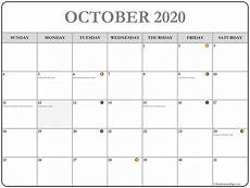 October 2020 Calendar Template October 2020 Calendar 56 Templates Of 2020 Printable