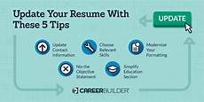 How To Update Your Resume Update These 5 Items On Your Resume Careerbuilder