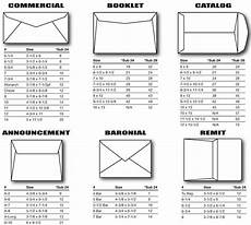 Executive Paper Size Chart Envelope Size Chart