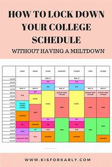 College Scheduler A Schedule Is So Practical And Today I M Going To Show You