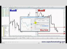 2.4 Market order, buy limit, sell limit, buy stop, sell