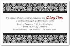 Black And White Christmas Invitations Black Amp White Enchanting Damask Holiday Invitations