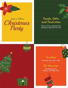 Office Christmas Party Flyer Templates Free 19 Amazing Holiday Party Flyer Templates In Eps