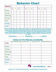 Good Behaviour Charts To Print Off Toddler Abc Guide To Discipline Quick Print Behavior
