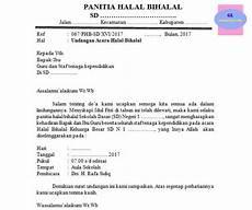 kumpulan contoh undangan halal bihalal sekolah ala model