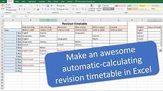 Make A Timetable For Me Make An Awesome Automatic Revision Timetable Schedule