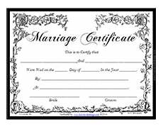 Printable Marriage Certificate Victorian Free Printable Marriage Certificates Marriage