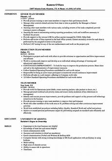 Target Flow Team Member Job Description Team Member Cv Sample June 2020